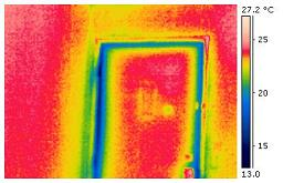Cold air leak around doorframe