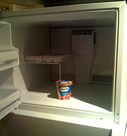 This refrigerator is not full enough