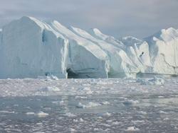 Iceberg calving in Ilulissat, Greenland