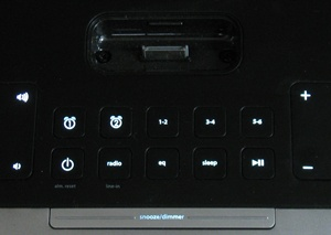 iHome Clock Radio controls