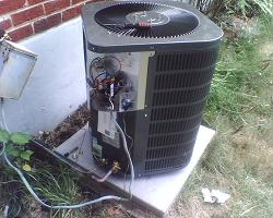 Newer residential air conditioning unit