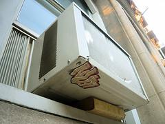 Old inefficient window AC unit